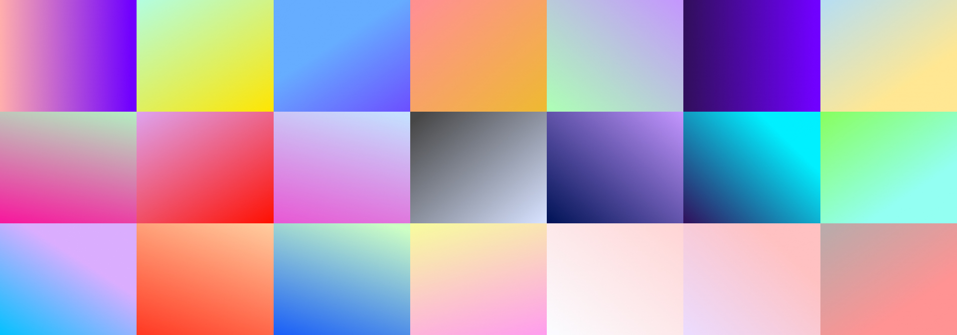 Attractive colour gradients to create a beautiful video